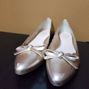 Kate spade gold patent flats